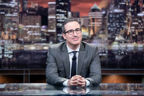 "Best variety talk series went to ""Last Week Tonight with John Oliver."""