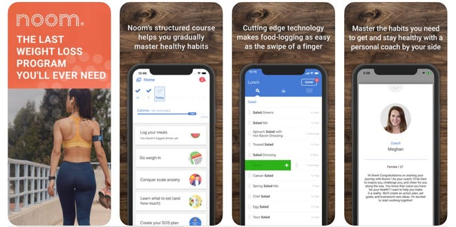 Noom: To help you lose weight and/or get fit, this app dishes up daily bite-size articles and interactive challenges to teach you the skills you need to improve your physical health.