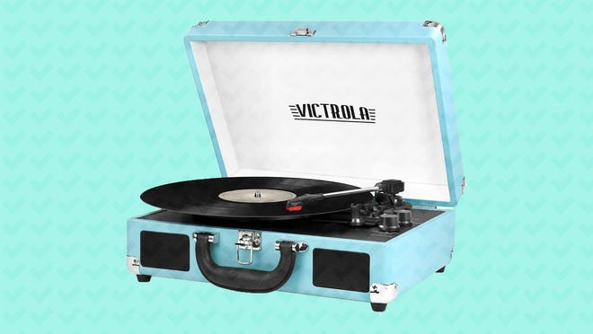 How cute is this retro turntable?