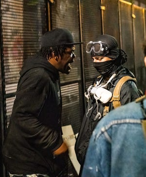 Hip-hop artist and Black Lives Matter protester ge.