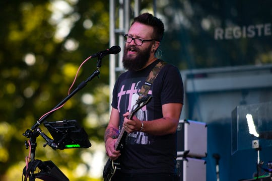 The Pork Tornadoes play a drive-in concert on July 24, 2020 at Water Works Park. Registered riders enjoyed the show on the second-to-last day of 2020's socially-distanced 'Virtual RAGBRAI.'