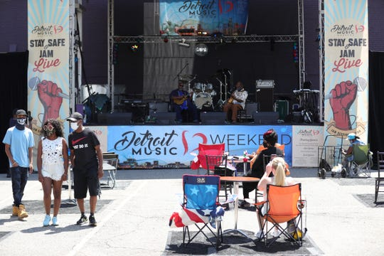 The Detroit Music Weekend festival on July 25, 2020.