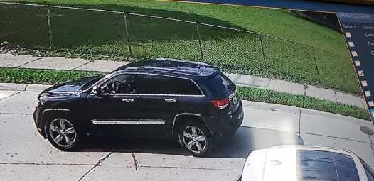 The Jeep was captured on camera.