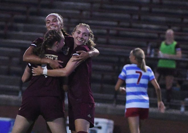 FILE — Detroit City FC's Kenna White, who scored the second goal for Le Rouge on Wednesday night.