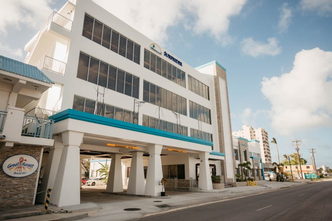 The Surfrider Resort Hotel in Chalan Kanoa, Saipan, was completed late last year. The project's construction was delayed when human ancestral remains were found on the site. They will be reburied on hotel grounds Aug. 14.