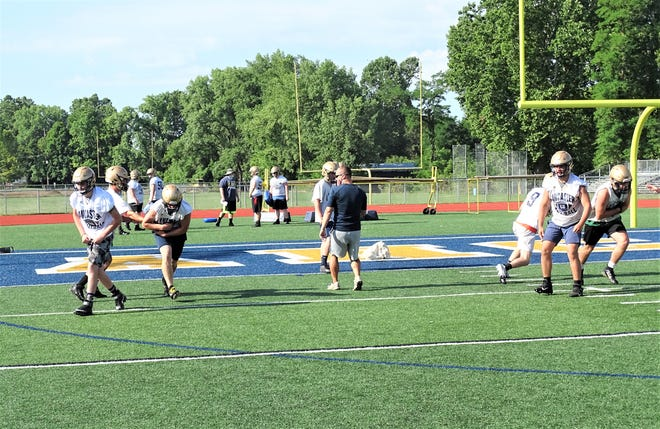 The Lancaster football went through two weeks of summer camp before wrapping up on Thursday with their final practice.