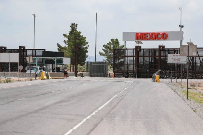 The U.S.-Mexico, Santa Teresa Port of Entry border crossing is pictured in New Mexico on Saturday, July 25, 2020.