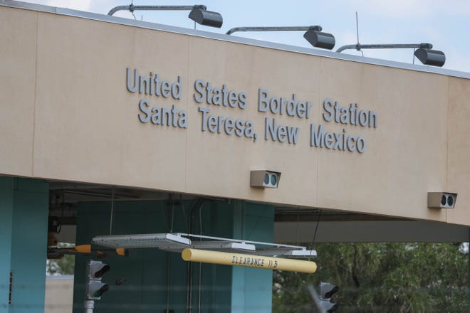 The U.S.-Mexico, Santa Teresa Port of Entry boarder crossing is pictured in New Mexico on Saturday, July 25, 2020.