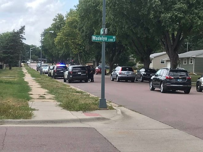 A man is taken into custody on Saturday, July 25 near the intersection of  West 40th Street and South Madelyn Avenue.