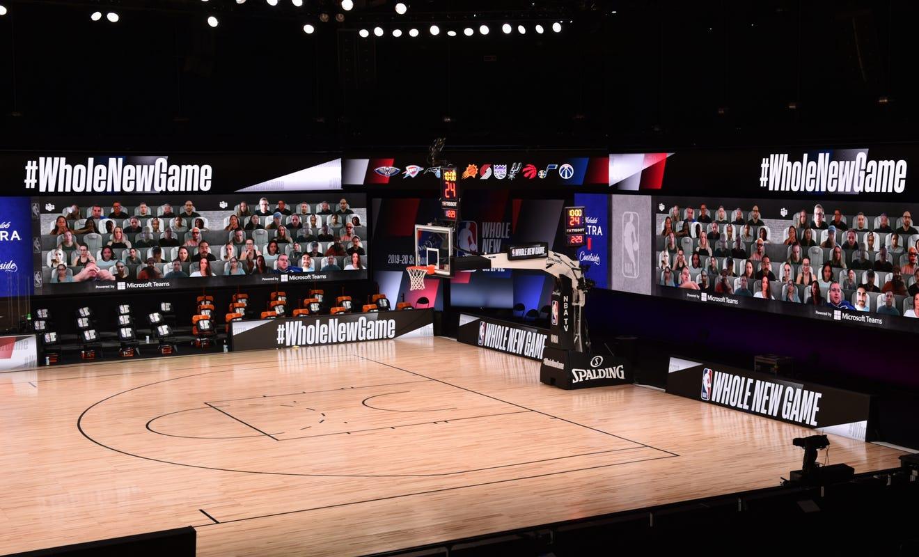 """Así se viven los nuevos partidos de la NBA a través del """"Virtual Cheering"""""""