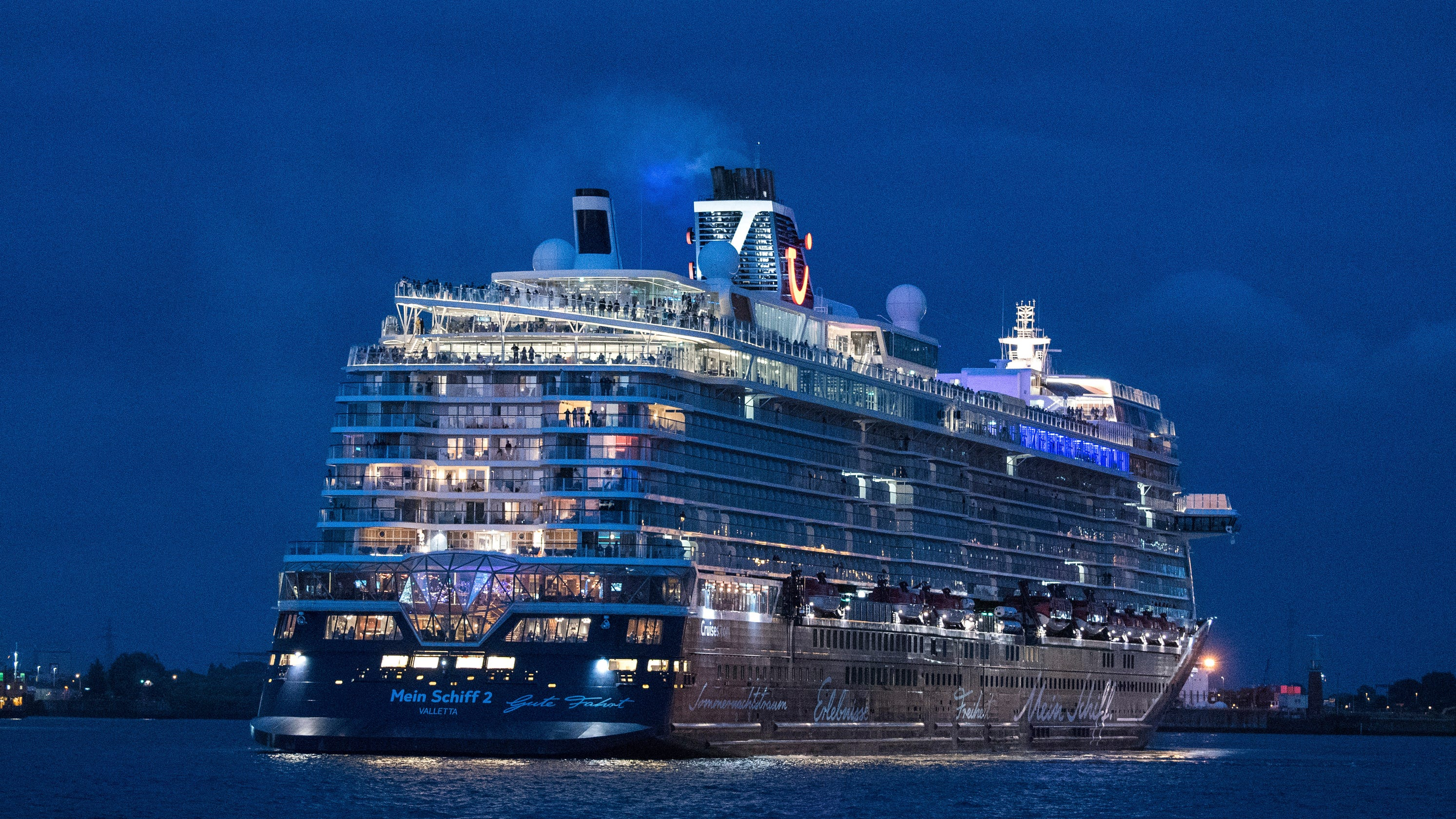 TUI Cruises' Mein Schiff 2 sails on return voyage with 1,200 people