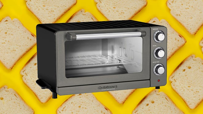 This toaster oven can toast, broil and bake with ease.
