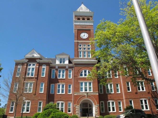 Tillman Hall on the campus of Clemson University is seen April 18, 2016.