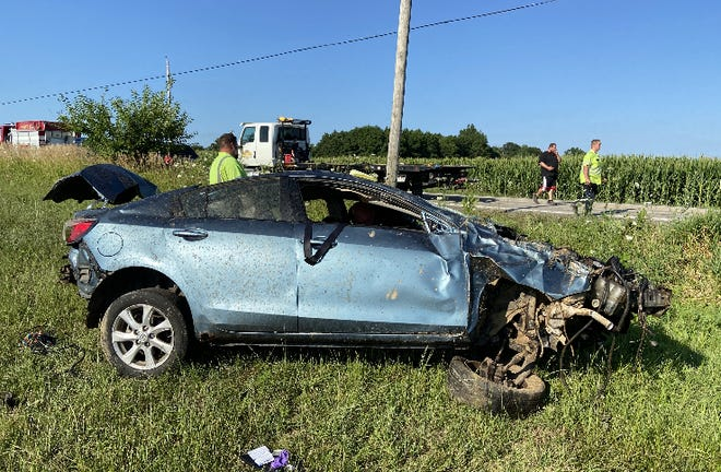 Authorities responded to a fatal crash Friday on Ohio 602, south of Henry Cooper Road.