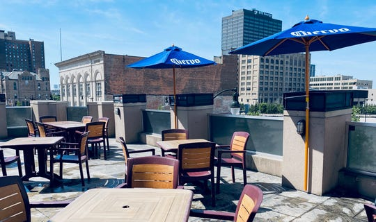 Social distancing and limited number of guests will be allowed on the rooftop of Bookies Bar and Grille for Opening Day.