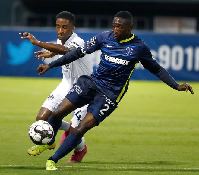 Defender Mark Segbers assisted Memphis 901 FC's first goal in the match against Atlanta United 2. Memphis drew 2-2.
