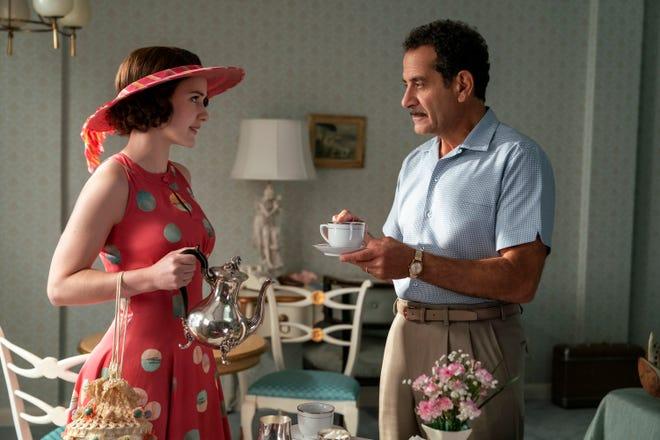 "Rachel Brosnahan, left, and Tony Shalhoub star in the Amazon Prime series ""The Marvelous Mrs. Maisel."""