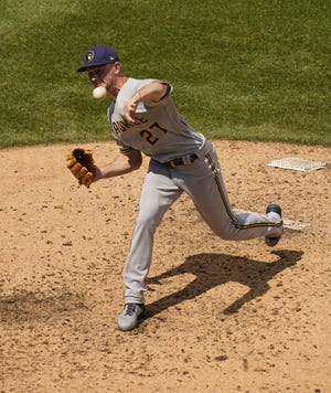 Eric Lauer had six strikeouts Sunday at Wrigley Field.