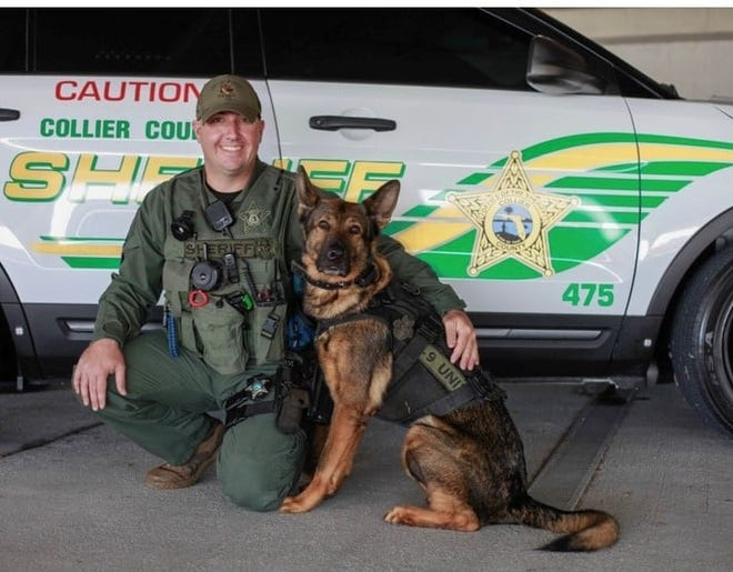 Collier County Sheriff's Office K-9 unit Kerel and his handler Deputy James Casey