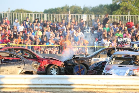 The Ottawa County Fair had its annual demolition derby, organized by the local Twisted Metal Demo Crew, on Friday.