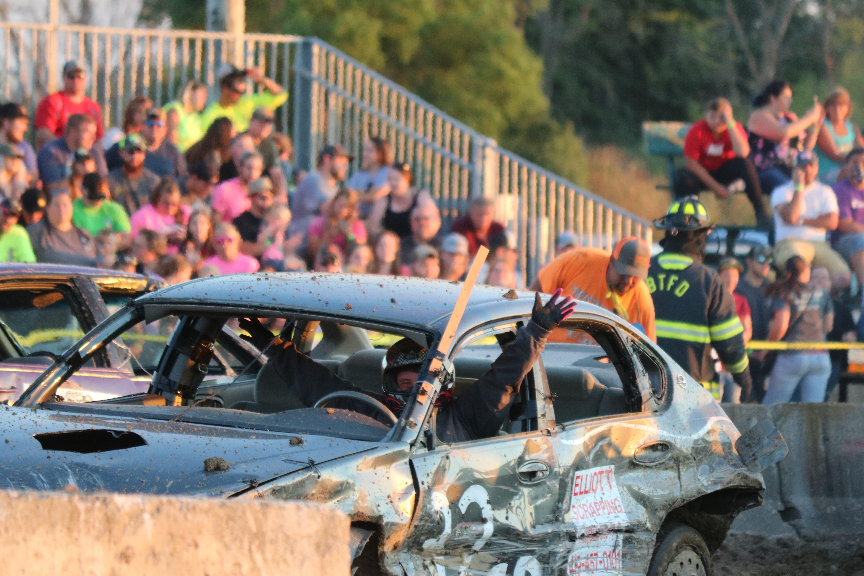 Hundreds Let Off Steam At Ottawa County Fair Demolition Derby