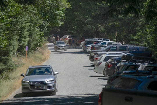 The Opal Creek Trailhead was very busy on July 25, 2020.