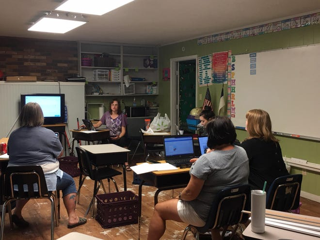 Legacy Christian elementary teachers recently took a professional development class in preparation for the upcoming school year. The school will begin in-person classes Aug. 17 while taking COVID-19 safety precautions.
