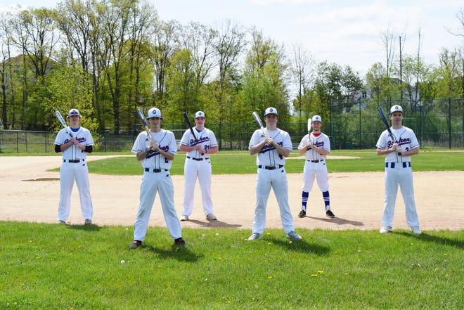 Goshen baseball players, from left, Casey Dailey, Jeff Henze, Andrew Robinson, Logan Mullane, Joe Schatz and Matt Garton will participate in a high school senior send-off tournament this week. JON SCHATZ/Photo provided