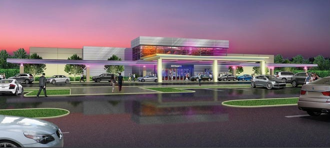 A rendering of what the Catawba Indian Nation casino in Kings Mountain might look like.