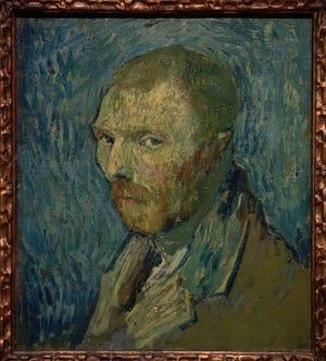 1889 self-portrait of Dutch master Vincent van Gogh