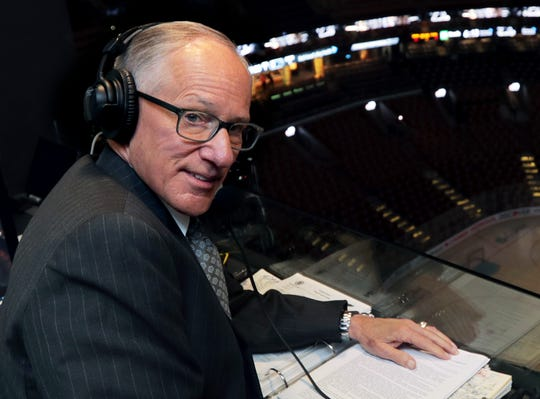 NBC hockey broadcaster Mike Emrick