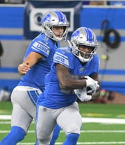 The Lions will pair running back Kerryon Johnson (pictured) with rookie D'Andre Swift.