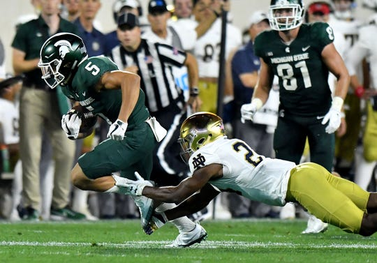 Former Michigan State receiver Hunter Rison says he'll play next season at Grand Valley State University.