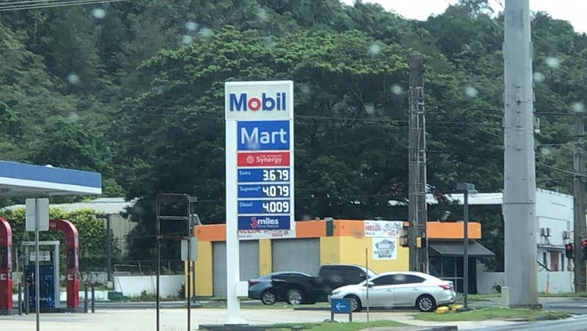 Price of gas was up 10 cents at Mobil on July 27, 2020 to $3.68.