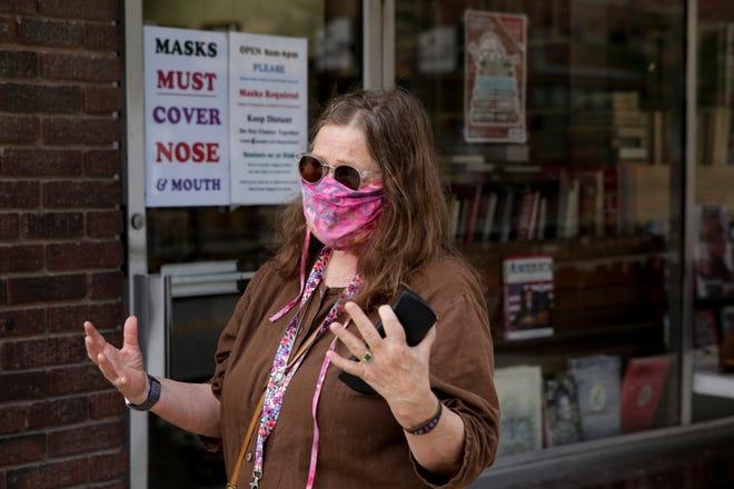 Wendy Wayman talks about Indiana's mask mandate, Monday, July 27, 2020 in West Lafayette.