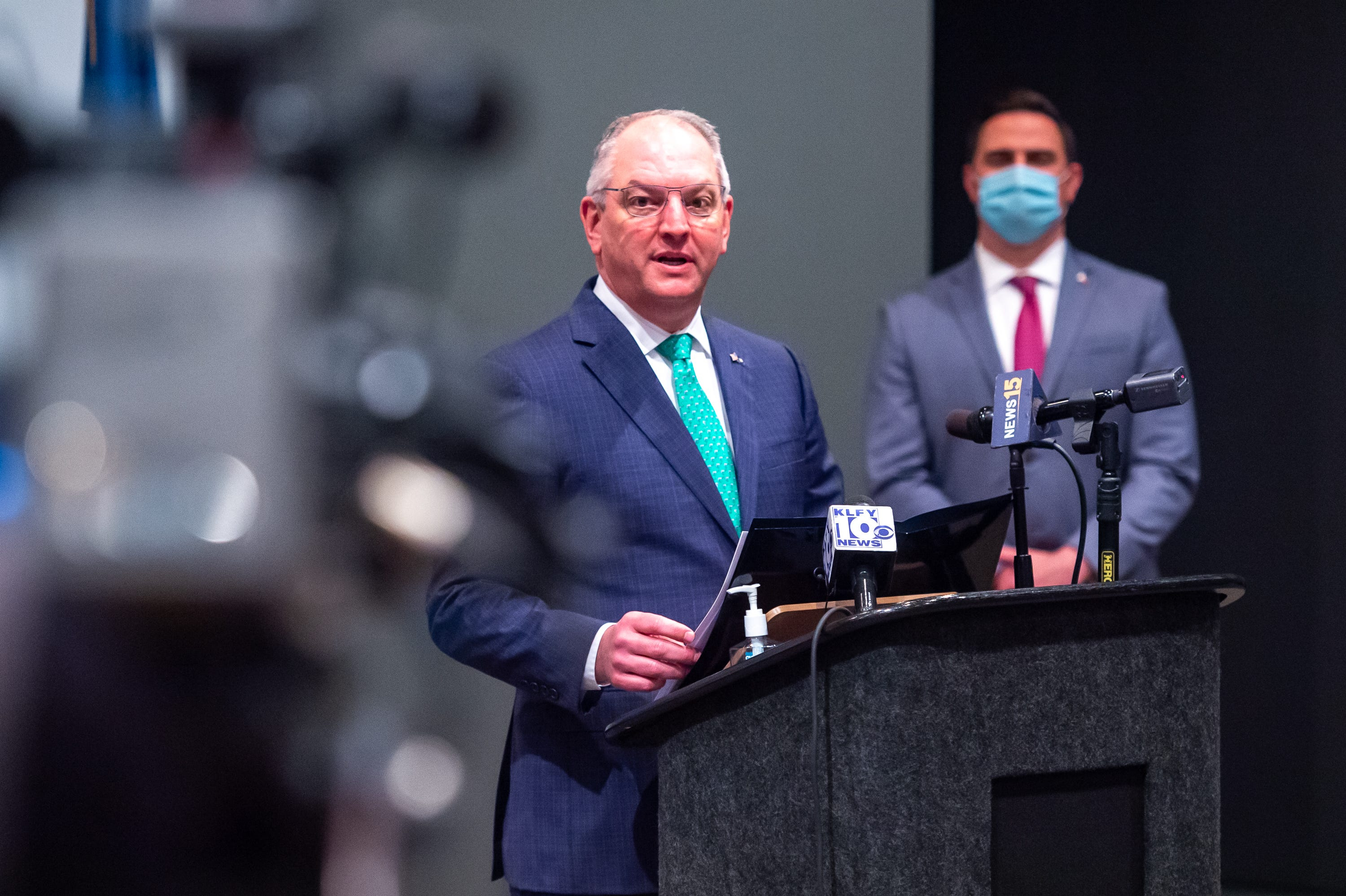 Louisiana Gov. John Bel Edwards was criticized early in the pandemic for his stay-at-home order in the spring that shut down the state's economy.
