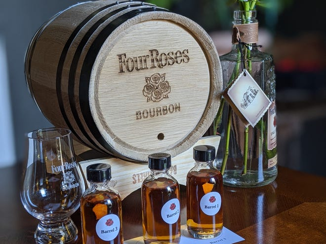 Courier Journal freelance writer Dana McMahan joined a virtual barrel selection with Four Roses for the Kentucky Derby Festival from her Old Louisville home.