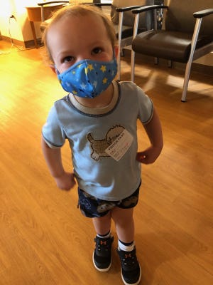 Jack Kastern of Sussex  was diagnosed with COVID-19 days before his second birthday.