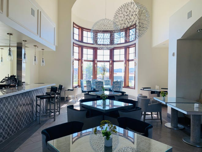 One of two soaring dining rotundas that anchor the kitchen, bar and restaurant at the Club at Rancharrah on the former Rancharrah estate being developed in South Reno.