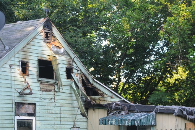 Richmond Fire Department extinguished a fire Sunday night in the 1200 block of Liberty Avenue.