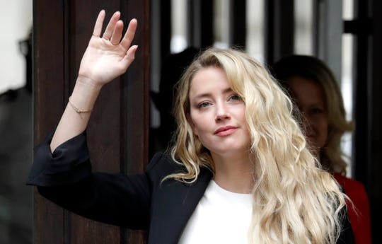 Amber Heard arrives July 27, 2020, for closing arguments in London trial of Johnny Depp's libel case against a British tabloid that called him a