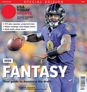 2019 NFL MVP Lamar Jackson is one of six different regional cover subjects for USA TODAY Sports' 2020 fantasy football preview issue.