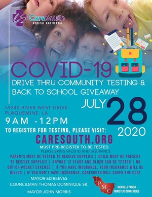 CareSouth is hosting free COVID-19 testing and a back-to-school supplies giveaway.