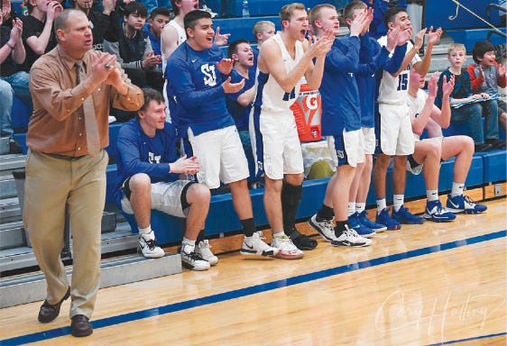 Coach Clint Kinnamon led St. John-Hudson USD 350 Tigers to four state championships and other honors during his 19-year tenure with USD 350. He leaves St. John to take a head coaching position at Wichita East High School with the Blue Aces this summer.