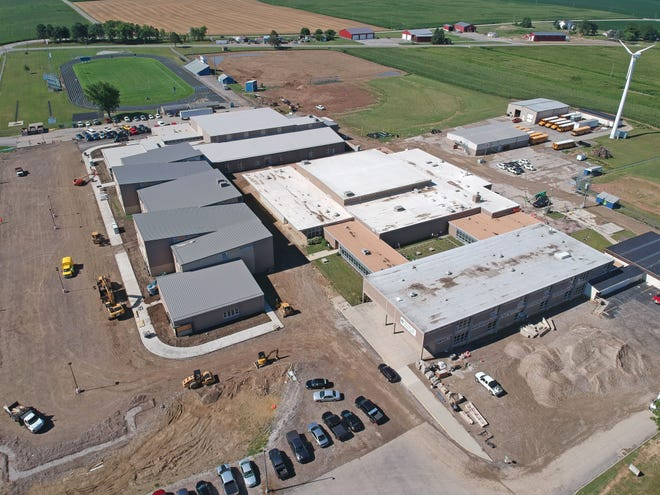 Wynford's new,$27.7 million, 93,000-square-foot junior high and high school is nearing completion.