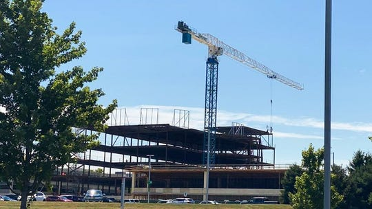 """Adena Health Systems honored the completion of the steel structure that will become the Orthopedic and Robotic Surgery facility with a """"topping out"""" ceremony on Wednesday, July 28, 2020."""