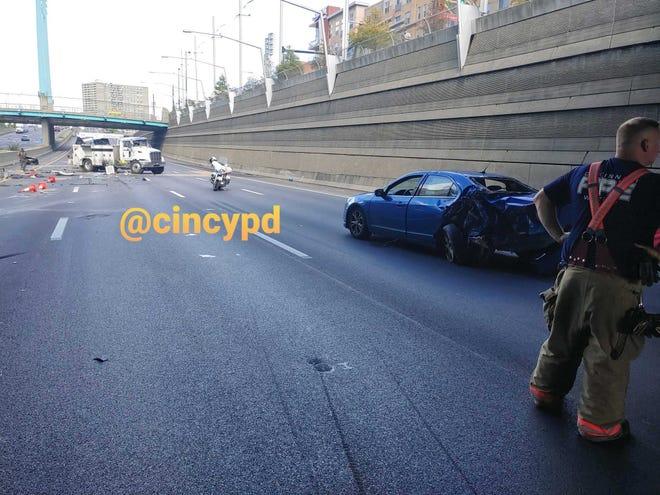 Cincinnati Police are on scene of a six car chain reaction crash.