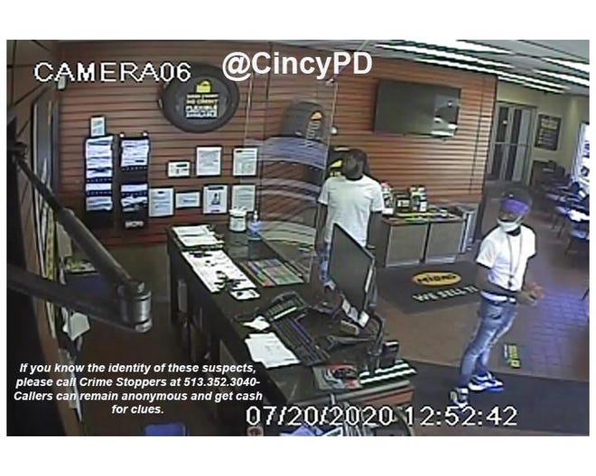 Cincinnati police are circulating a picture of two men they say assaulted an employee of a Midas shop in Avondale in hopes someone can help officers identify the men.