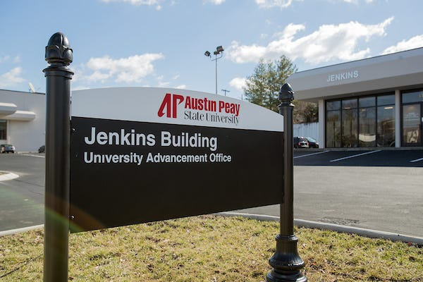 The Office of University Advancement moved into the Jenkins Building in February 2017. (Beth Lowary, APSU)