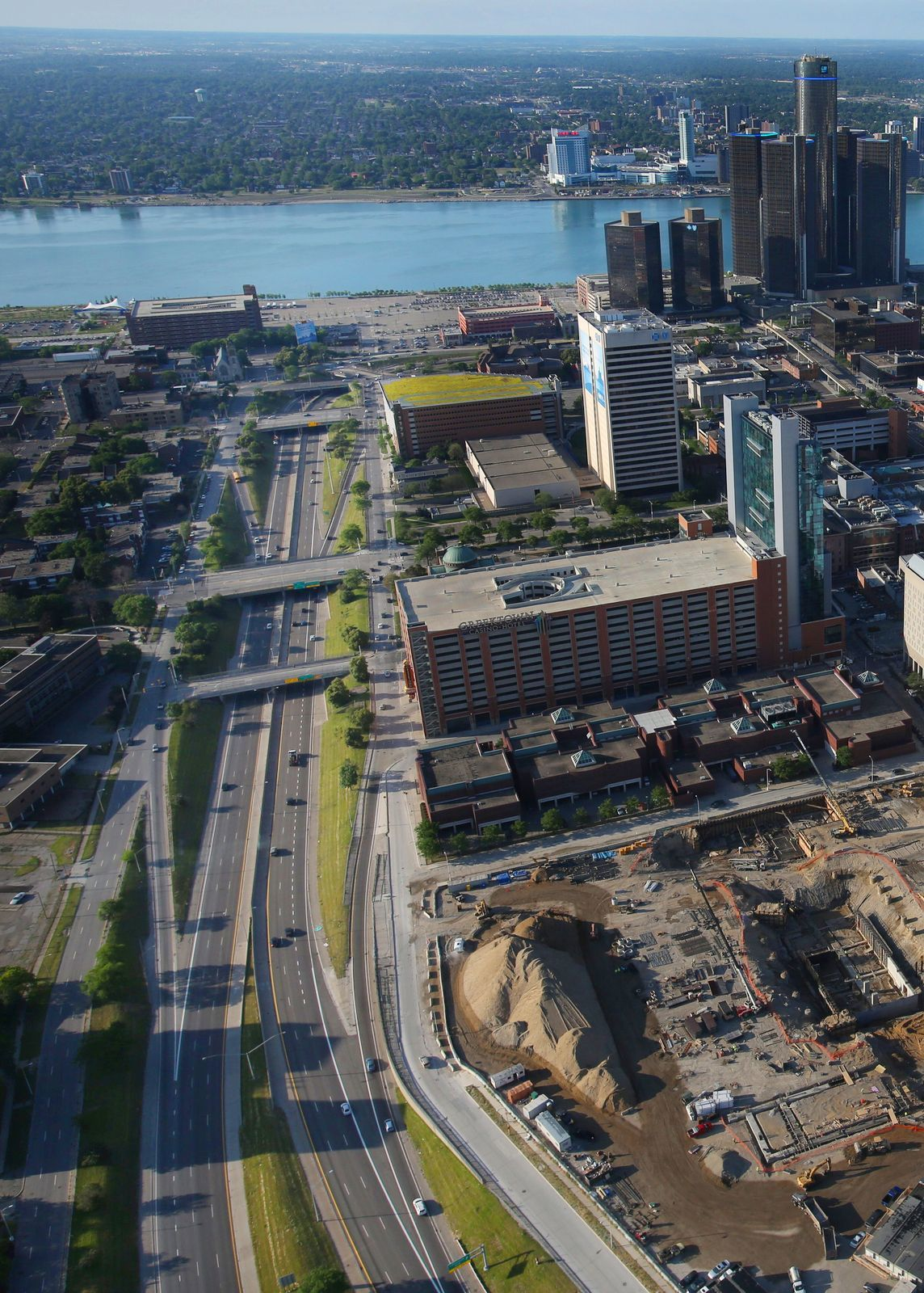 Officials have long weighed plans to rip out Detroit's I-375 expressway and restore a surface street there.